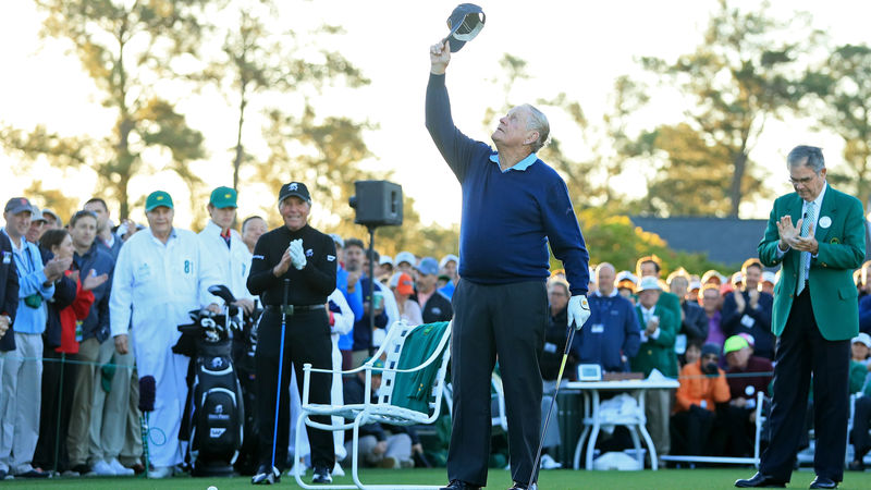 Emotional start to Masters with Nicklaus, Player