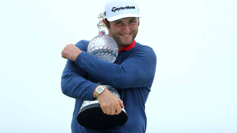 Record-breaking Rahm wins Irish Open by 6 shots