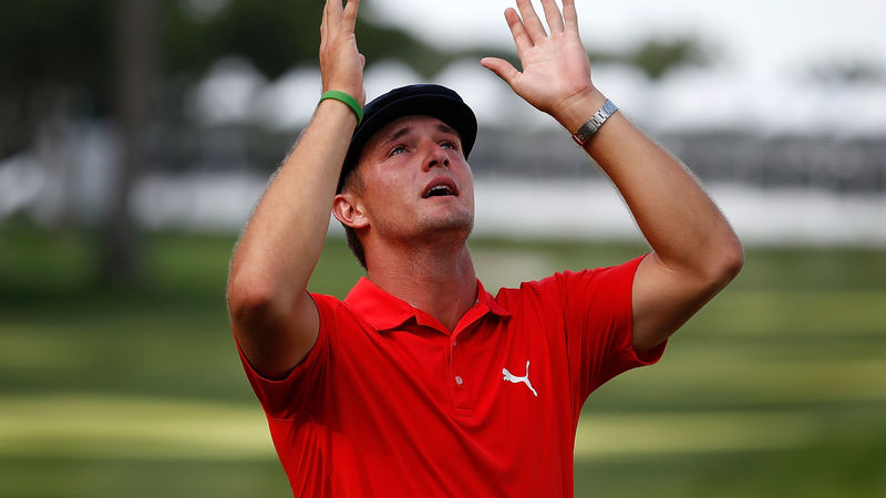 Bryson DeChambeau holes winning birdie putt and then goes nuts