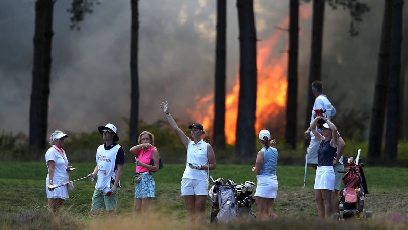 Wentworth Fire: Rose Ladies Series Grand Final abandoned due to blaze