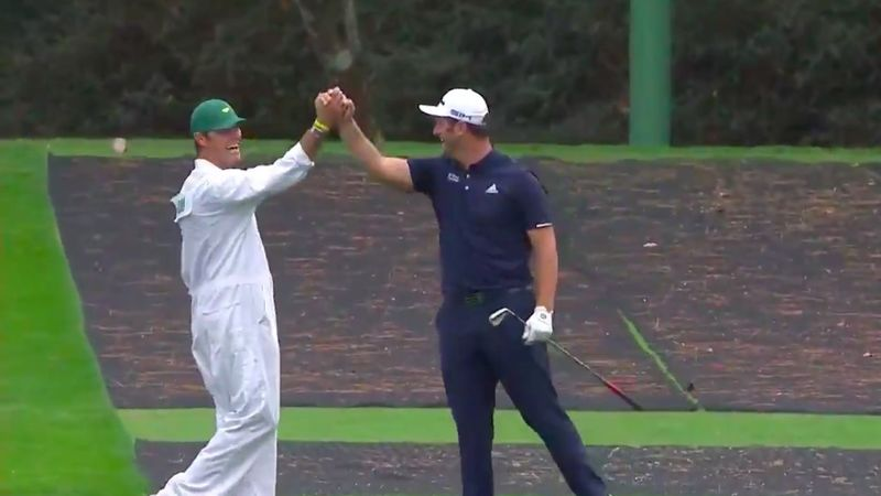 Jon Rahm's spectacular skip-shot ace at Augusta
